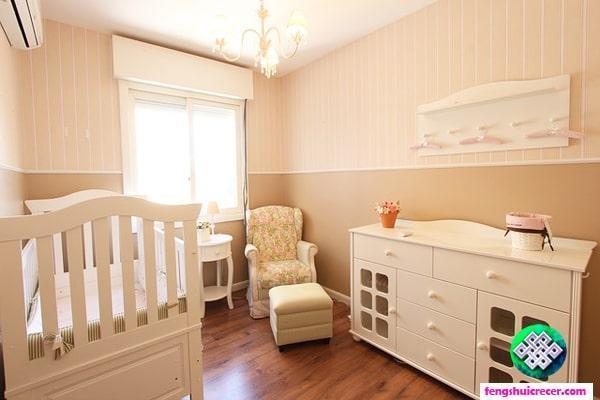 Feng Shui en la habitación del Bebé, decoración, colores